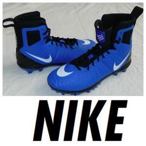 New NIKE Force Savage CLEATS Blue 11.5 FOOTBALL